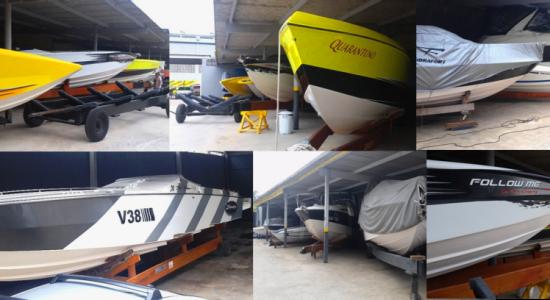 Instalações para 50 embarcações de até 40 pés.
